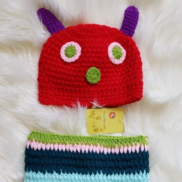 Accessories The Hungry Caterpillar Crochet Baby Outfit Set Poshmark